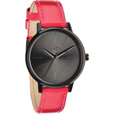 Nixon Women's A108-1394-00 Kensington 37mm Leather Bright Pink Patent A1081394