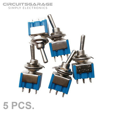 5 X 6a 125v Ac Onoff Mini Spdt 2 - Position Latching Toggle Switches - Usa
