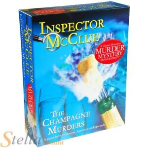 Paul Lamond The Champagne Murder Mystery Inspector McClue Dinner Party DVD Game