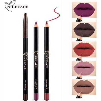 12 Colors Waterproof Pencil Lipstick Pen Matte Lip Liner Long Lasting Makeup (Lipstick Pens)