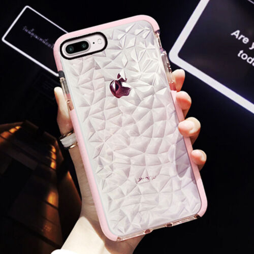 Hybrid Shockproof Diamond Soft Silicone Case Cover For iPhone X 7 Plus XSMAX 8 6