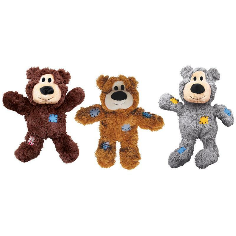 KONG Wild Knots Bears Plüsch Hundespielzeug - Kuscheltier mit Seil
