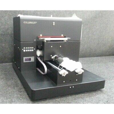 Colorsun A3 8-color Automatic Flatbed Dtg Direct To Garment Printer