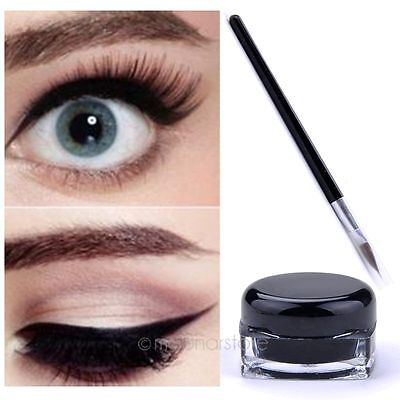 Damen Wasserfest Lidstrich Eyeliner Gel Creme Make-up Kosmetik Pinsel Set