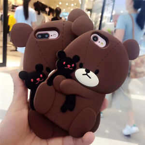 Cute Brown Bear Coque Case For iphone 7 7plus Soft Silicone Phon