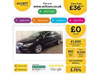 Volkswagen Passat CC 2.0TDI ( 140ps ) BlueMotion Tech CC FROM £36 PER WEEK !