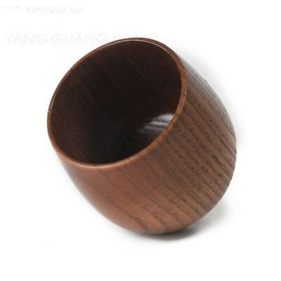 Wooden Drinking Cup Tea Coffee Beer Milk Travel Mug Japanese Vintage Home Tools  ()