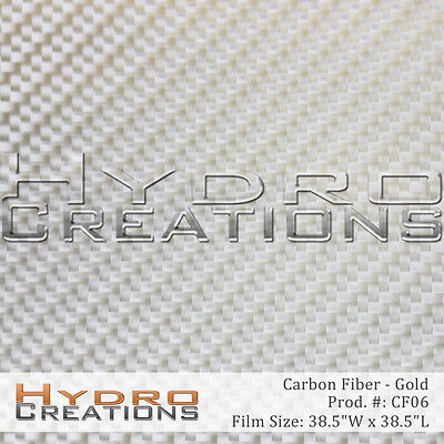 Hydrographic Film Hydro Dipping Water Transfer Gold Carbon Fiber 38.5 X 38.5