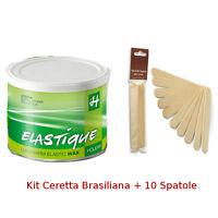 Ceretta Brasiliana Verde +10 Spatole -resina Elastica Depilazione Viso,bikini -  - ebay.it