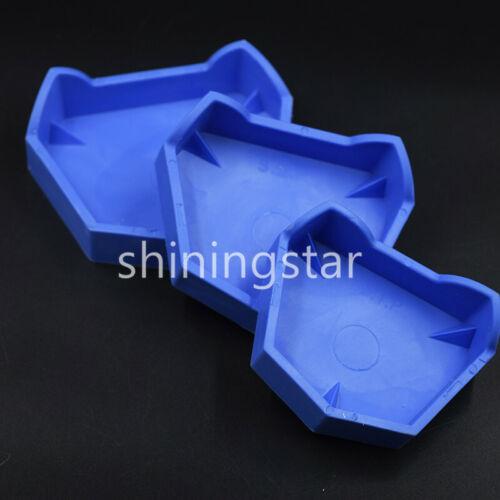 12 Pcs Dental Lab Silicone Rubber Plaster Model Former Base Mold Mould Tray Blue