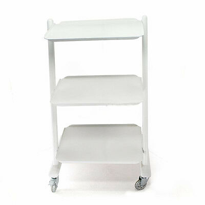Details about Dental Lab Trolley Dentist Trolly Medical Storage Mobile  Steel Cart Unit 3 Layer