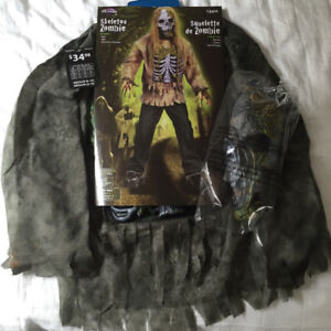 Skeleton Zombie Costume - NEW - NEVER BEEN USED
