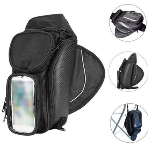 Magnetic Motorcycle Motorbike Oil Fuel Tank Bag Waterproof Saddlebag Phone Black
