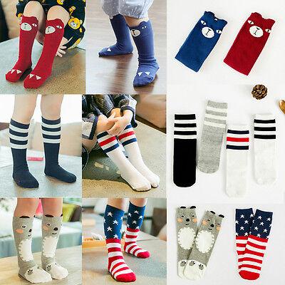 US Baby Toddler Kids Child Stripes Knee High Socks Tights Hosiery Stockings 0-6T](Toddler Knee High Socks)