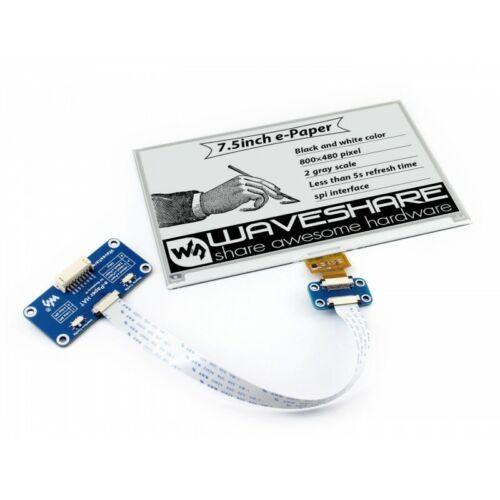 Waveshare 800×480 HD 7.5inch e-Paper Hat E-lnk Display for RPi 4B/3B+/2B/Zero