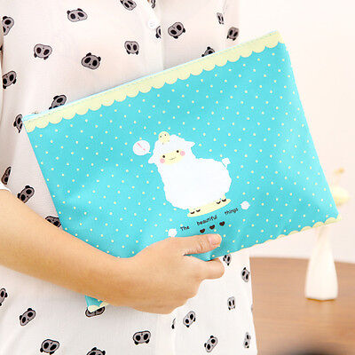 Cute Cartoon Animal File Folder Book Case Document Organizer A4 A5 B6 Paper Bag