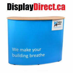 Tradeshow Display Counter | Portable Pop Up Curved Counter