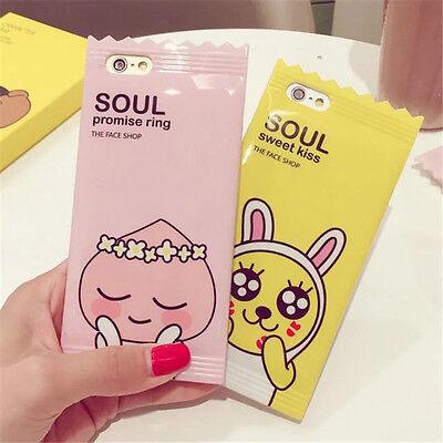 Cute Glaze Muzi Apeach candy phone case back cover For iphone 6/6S/7/8 Plus (Cute Candy)