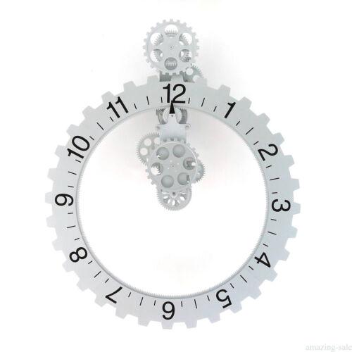 2017 Fashion Contemporary Mechanical Invotis Design Wall Mounted Gear Clock KM90
