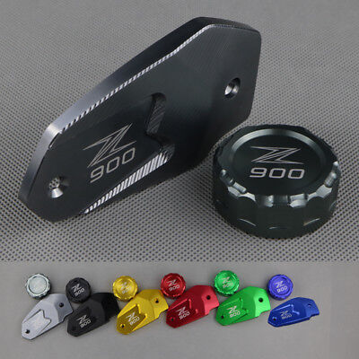 Front & Rear CNC Billet Brake Reservoir Fluid Cover Cap For Kawasaki Z900 - Billet Brake Fluid Cap