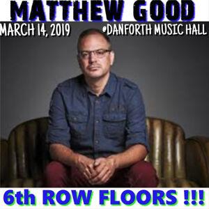 MATTHEW GOOD @ DANFORTH –AMAZING 6th ROW FLOOR TICKETS & MORE!!!