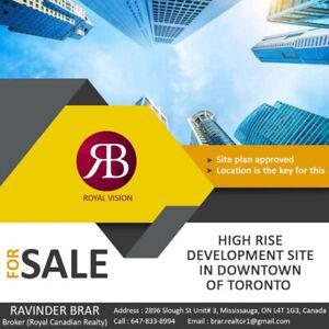 High Rise Development Site For Sale!!