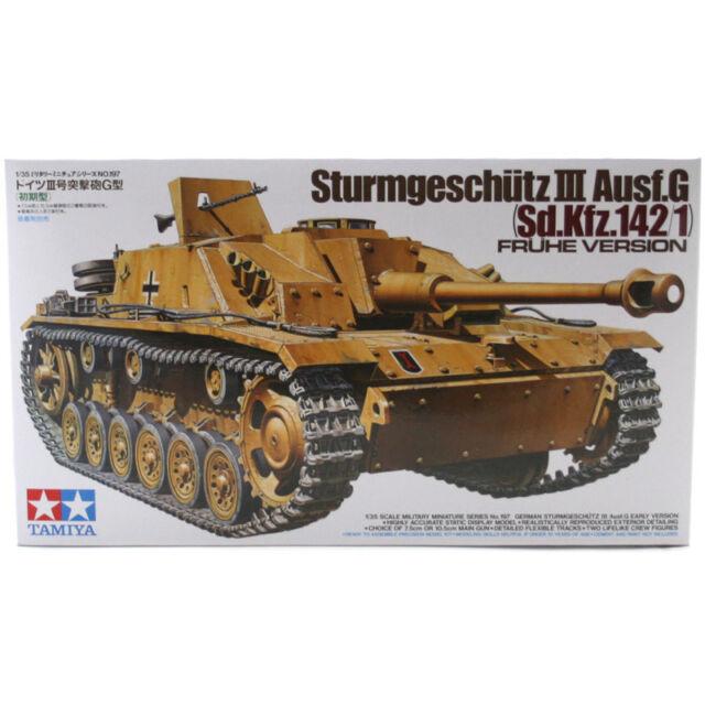 Tamiya Sturmgeschütz III Ausf.G Tank Model Set (Scale 1:35) 35197 NEW
