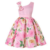 Girls Ball Gown Dress Wedding Princess Bridesmaid Party Prom Birthday for Kid