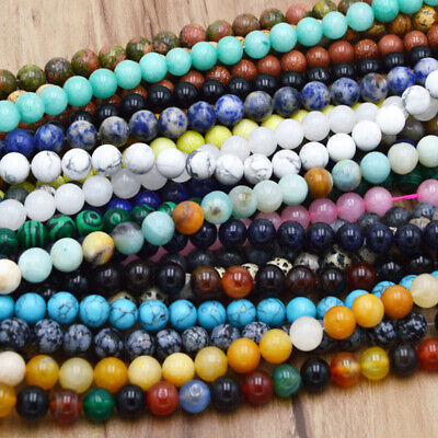 Tools Gemstone (Wholesale 4mm 6mm 8mm10mm Natural Gemstone Round Spacer Beads Make Jewelry)