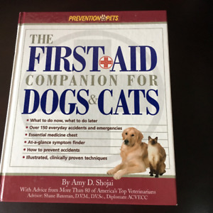 HARD COVER FIRST AID DOG AND CAT INFO
