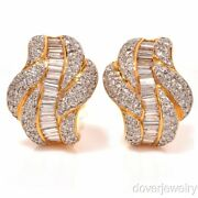 Estate 18K Diamond Earrings