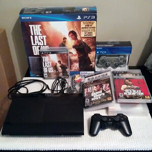 PS3 PlayStation 3 500GB - The Last of Us Edition + 34 PS3 Games
