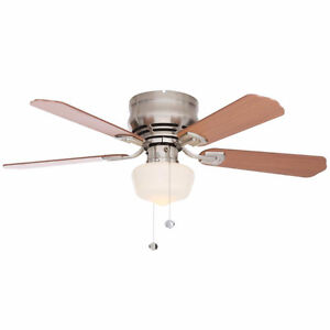 BRAND NEW IN BOX! 42 inch Brushed Nickel Ceiling Fan with Light