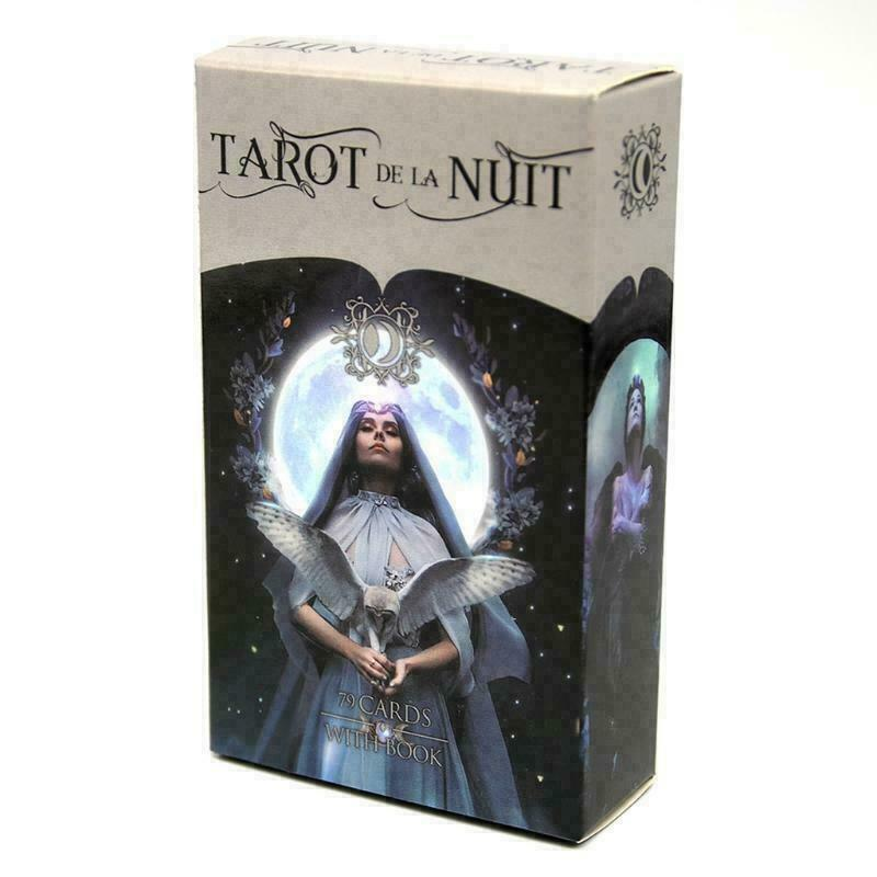 78 Cards Deck Tarot De La Nuit Full English Family Party Board Game Oracle Cards