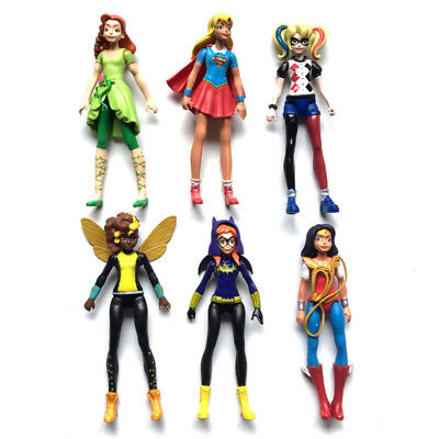 6pcs/set DC Comics Super Hero Girls Harley Quinn Batgirl Kid Action Figures Toy