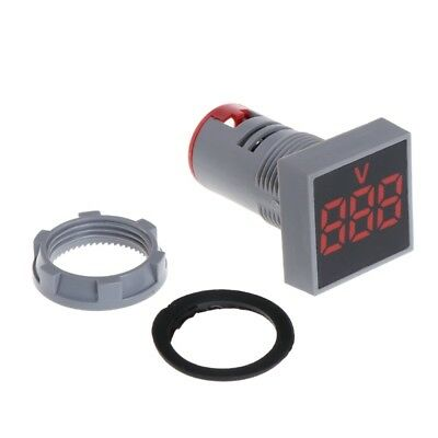 Panel Mount Square Display Digital Voltmeter Ac 20 500v Led Display Red