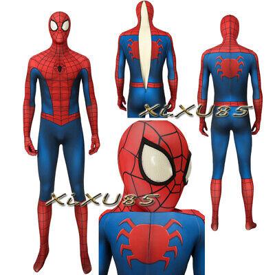 Superhero Classic Battle Suit Spider-Man Cosplay Costume Halloween - Classic Spiderman Suit