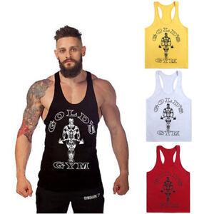 Mens-Gym-Tank-Top-Bodybuilding-Athletic-Singlet-Fitness-Y-BACK-Racer-Sport-Vest