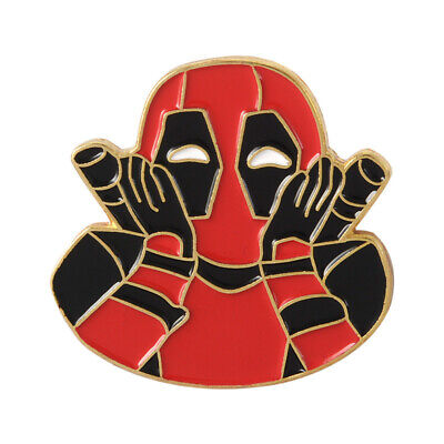 Marvel Movie Deadpool Enamel Pins Brooch for Jacket Bag Backpack Fashion Jewelry