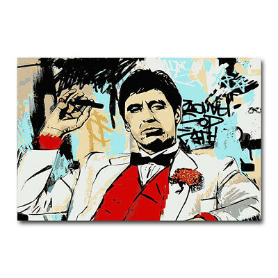 Al Pacino Scarface Silk Art Poster Classic Movie Canvas Print 12x18 24x36 inch