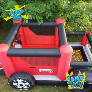 Rocky the Truck Inflatable Bouncer, Ball Pit and Slide
