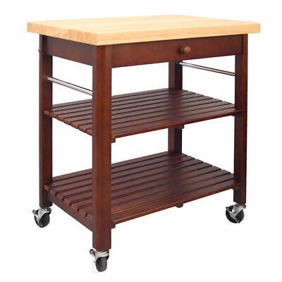 Catskill Craftsmen Kitchen Kitchen Cart - Catskill Craftsmen Roll About Kitchen Cart in Cherry Stain