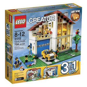 "LEGO Style 3 in 1 Family House Light Brick 31012 ""Retired"""