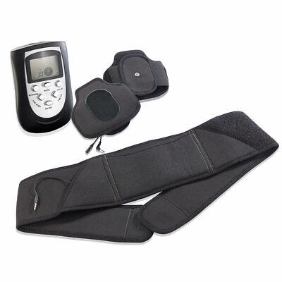 Bauchmassagegerät: 3in1-Massagegürtel-Set für Entspannung und Muskelaufbau