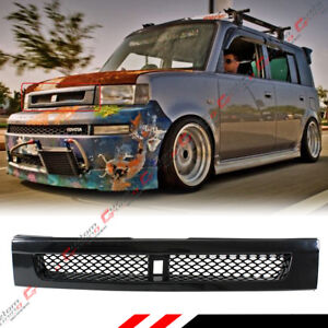 FOR 2004-07 SCION XB BB GLOSSY BLK JDM FRONT HOOD ABS GRILL GRILLE W/ METAL MESH