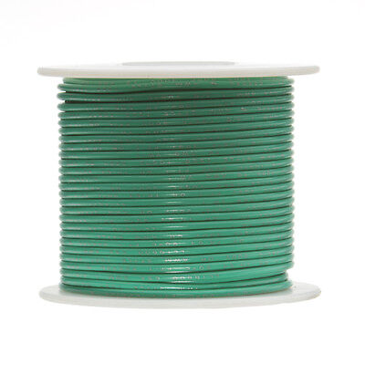 22 Awg Gauge Stranded Hook Up Wire Green 100 Ft 0.0253 Ul1015 600 Volts