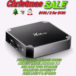 Android Boxes XMAS SALE 2GB RAM UNLIMITED MOVIESTV FREE LIVETV