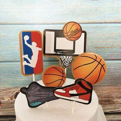 Happy Birthday Cake Topper Tortendeko Kuchendeko Tortenstecker Basketball
