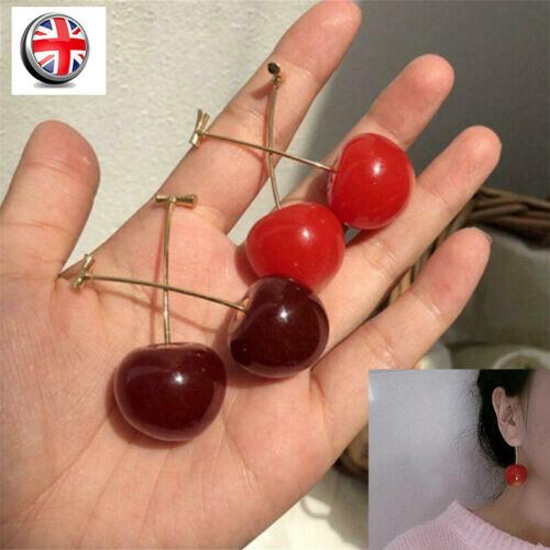 Jewellery - Bohemian Party Fashion Women Cherry Earrings Jewelry fruit Stud Dangle Drop UK D