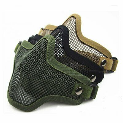 Half Face Mask Protective Guard Metal Mesh Mask Cover Tactical Airsoft Paintball
